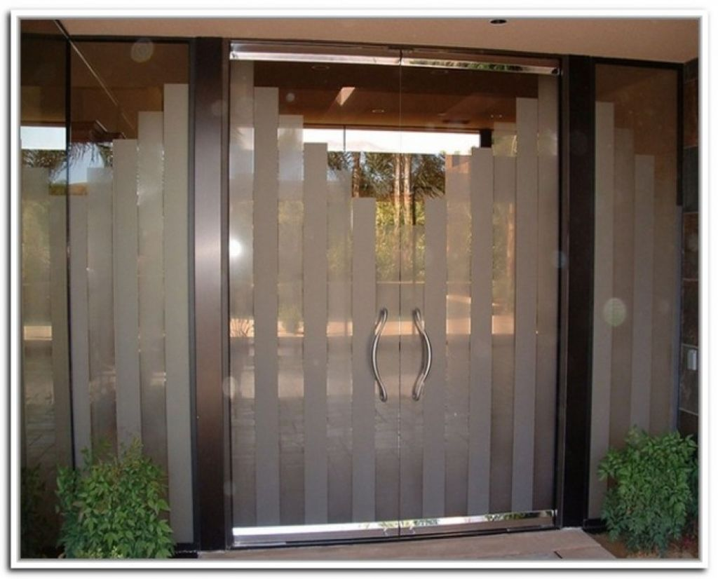 4 designs pictures of installed exterior commercial doors with simple and modern model