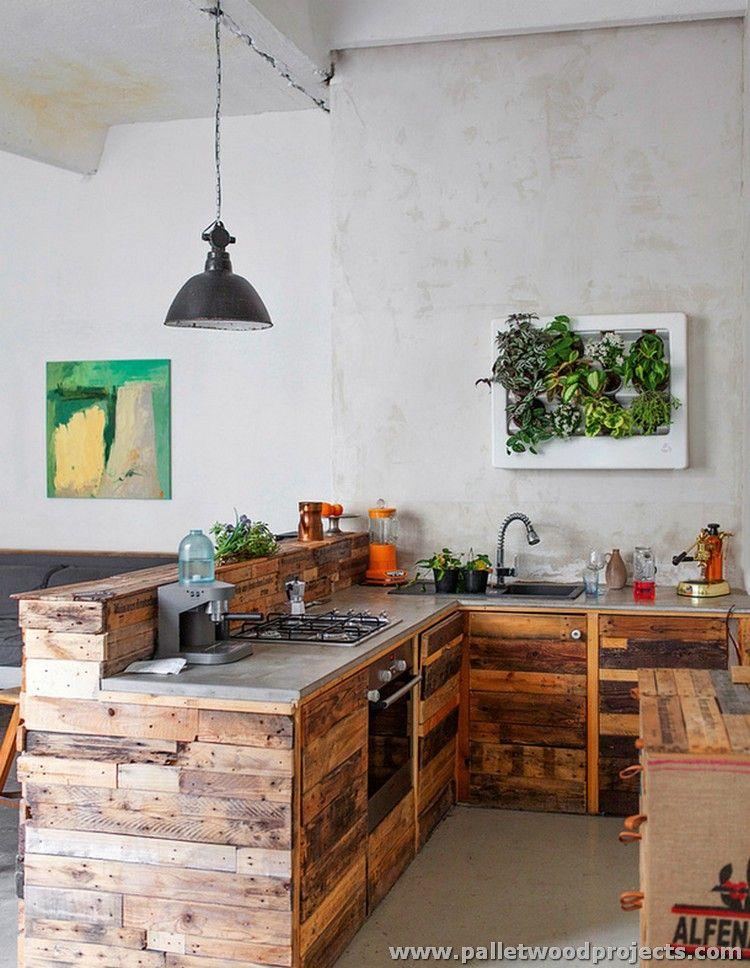 Paletten Holz Kucheninstallationen Kuchyne Pinterest Kitchen