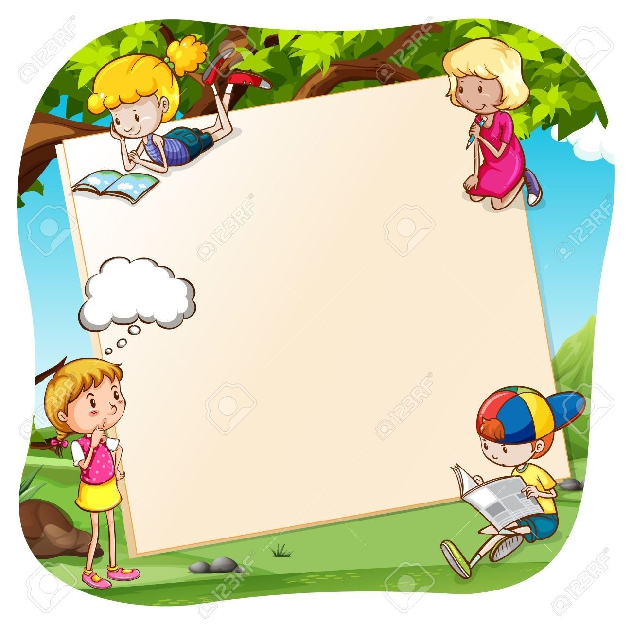 8+ Write Clipart - Preview : Clipart Of Kids W | HDClipartAll