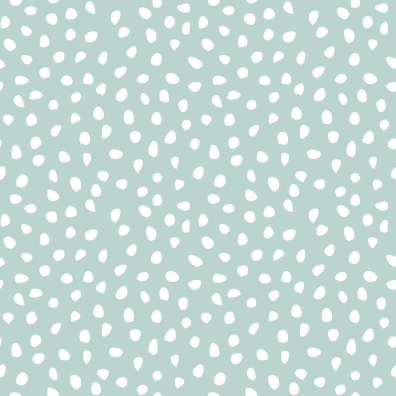 Mint Dalmatian // Removable Wallpaper // Temporary | Etsy