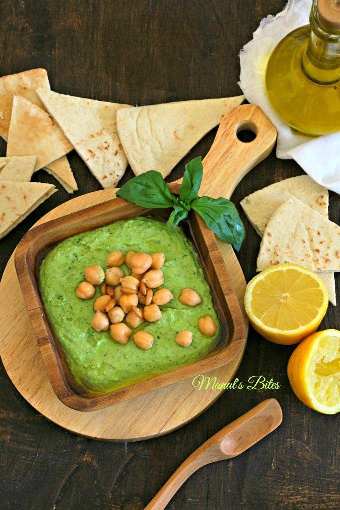 Spring Has Sprung Basil Hummus حمص بالريحان من خيرات ربيع بلادي Middle Eastern Recipes Food Arabic Food