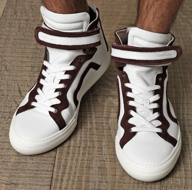 Pierre Hardy Leather High Trainers XBHO7