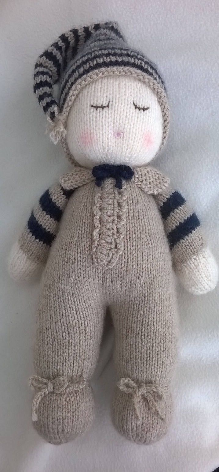 Hand Knitted Baby Dumpling Doll | Pinterest | Knitted baby, Dolls ...