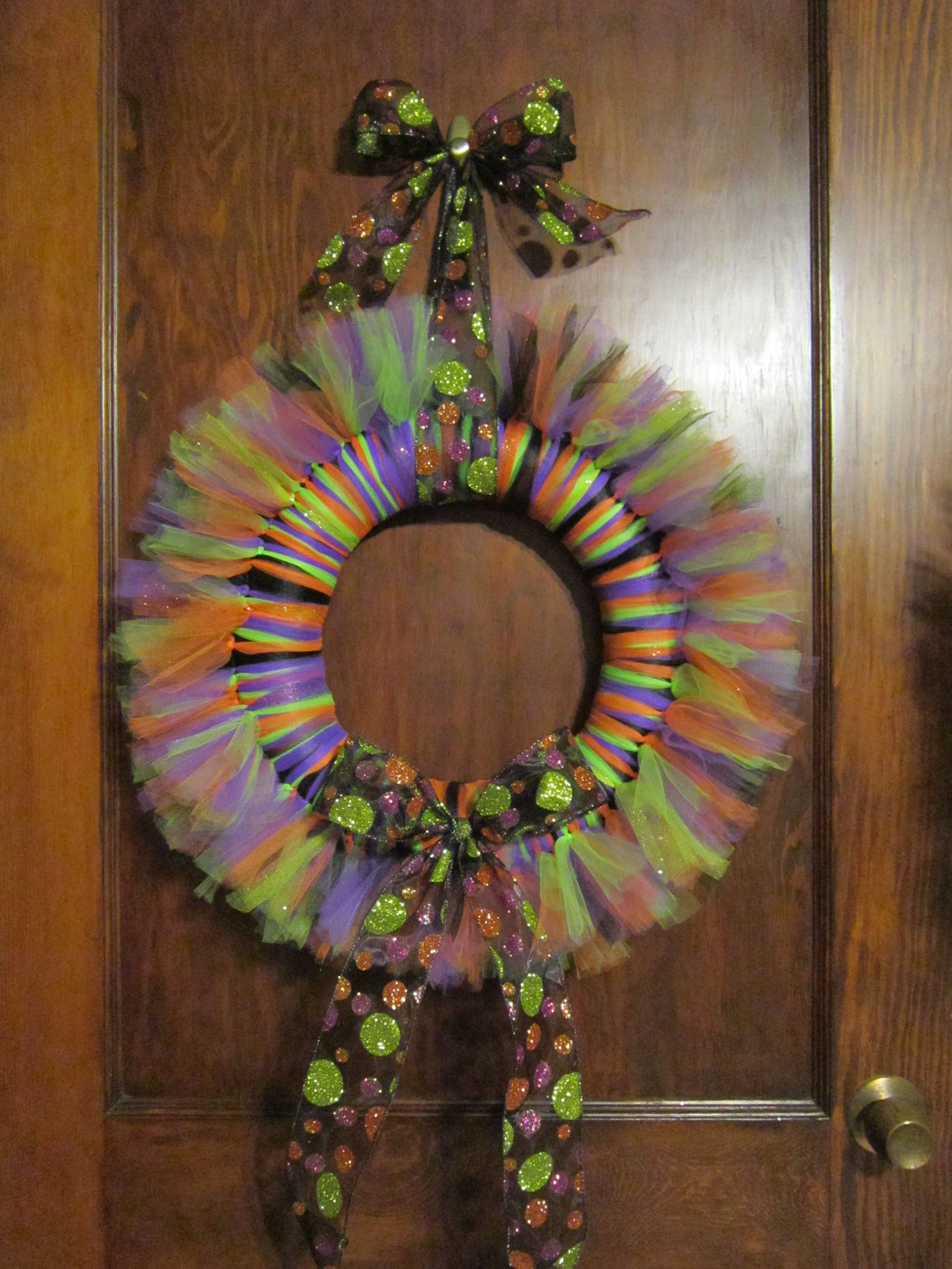 Sparkly Halloween Wreath Made By Jojostulleshackcom