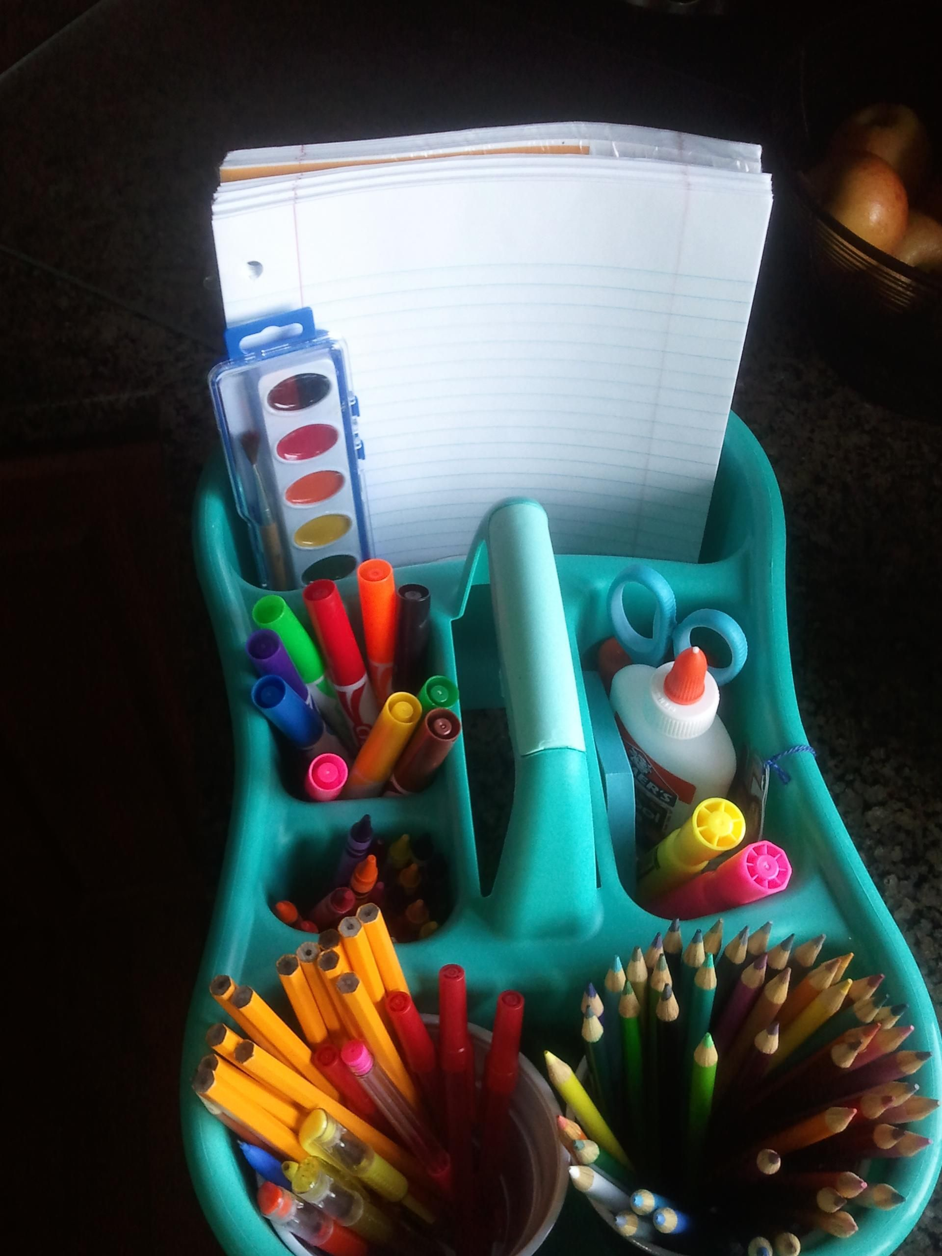 Bath bins on sale for $2 and school supplies clearanced make a great ...