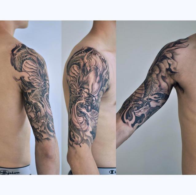 Chronic Ink Tattoos Toronto Tattoo Shop: Toronto Tattoo Dragon Half Sleeve