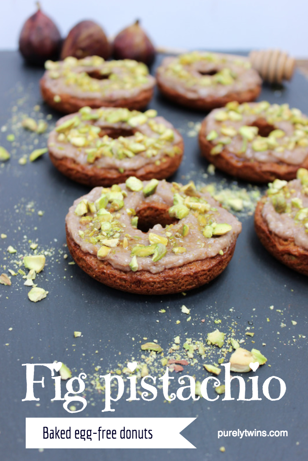 Pistachio fig goat cheese #eggfree #grainfree donut recipe! One of our favorite baked donut recipes!! It will become an instant favorite in your house.