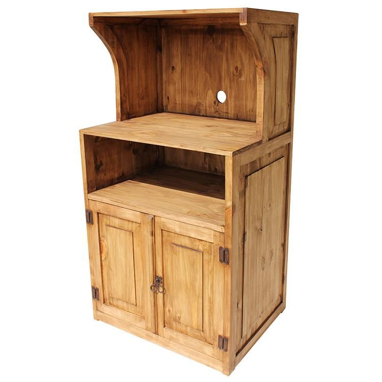 microwave stand rustic pine furniture