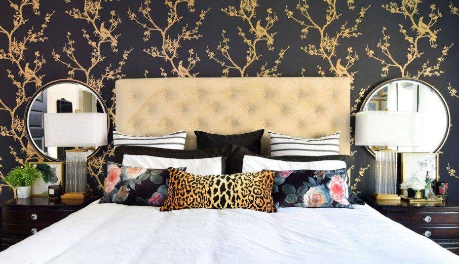 Design Ideas Bedrooms Magnificent Black Gold Master Bedroom Black And Gold Bedroom Ideas In 2020 Bedroom Decor On A Budget Wall Decor Bedroom Black Wallpaper Bedroom