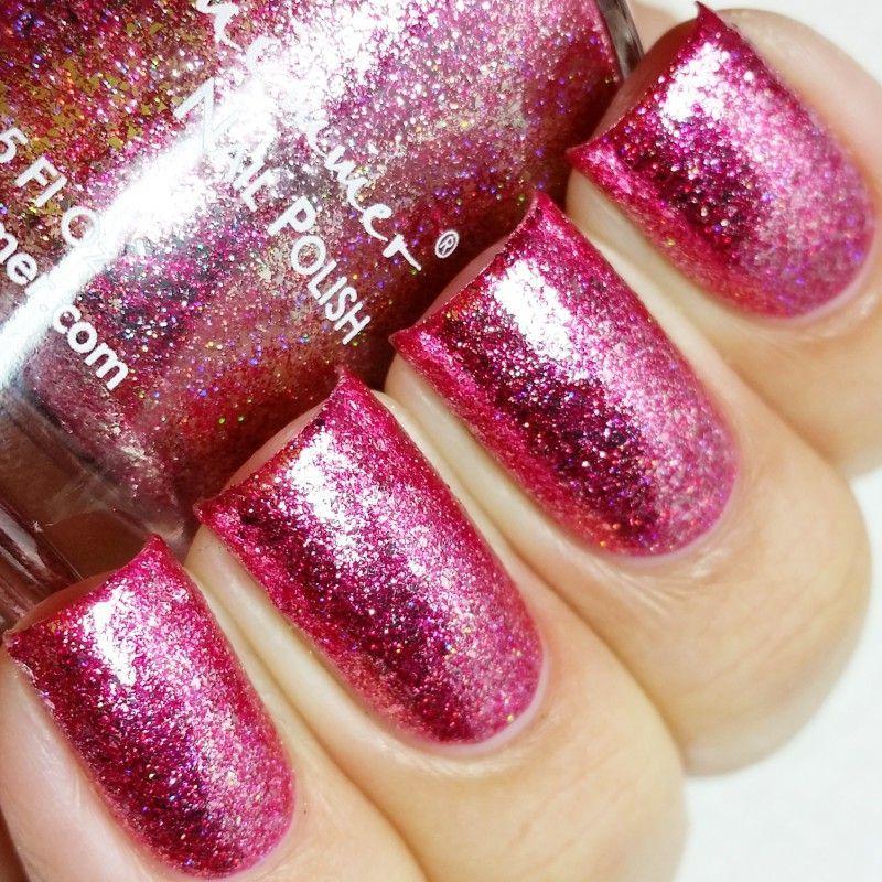 KBShimmer Pink Tourmaline Birthstone Metallic Flake Nail Polish ...