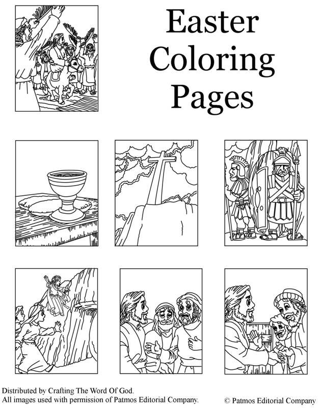 Christs Death And Resurrection (Coloring Pages) Coloring