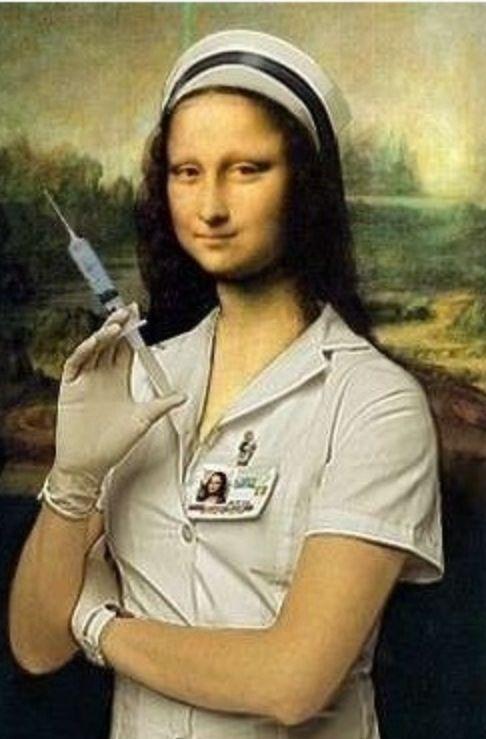 Modern day Mona Lisa? | La joconde, Mona lisa, Humour infirmière