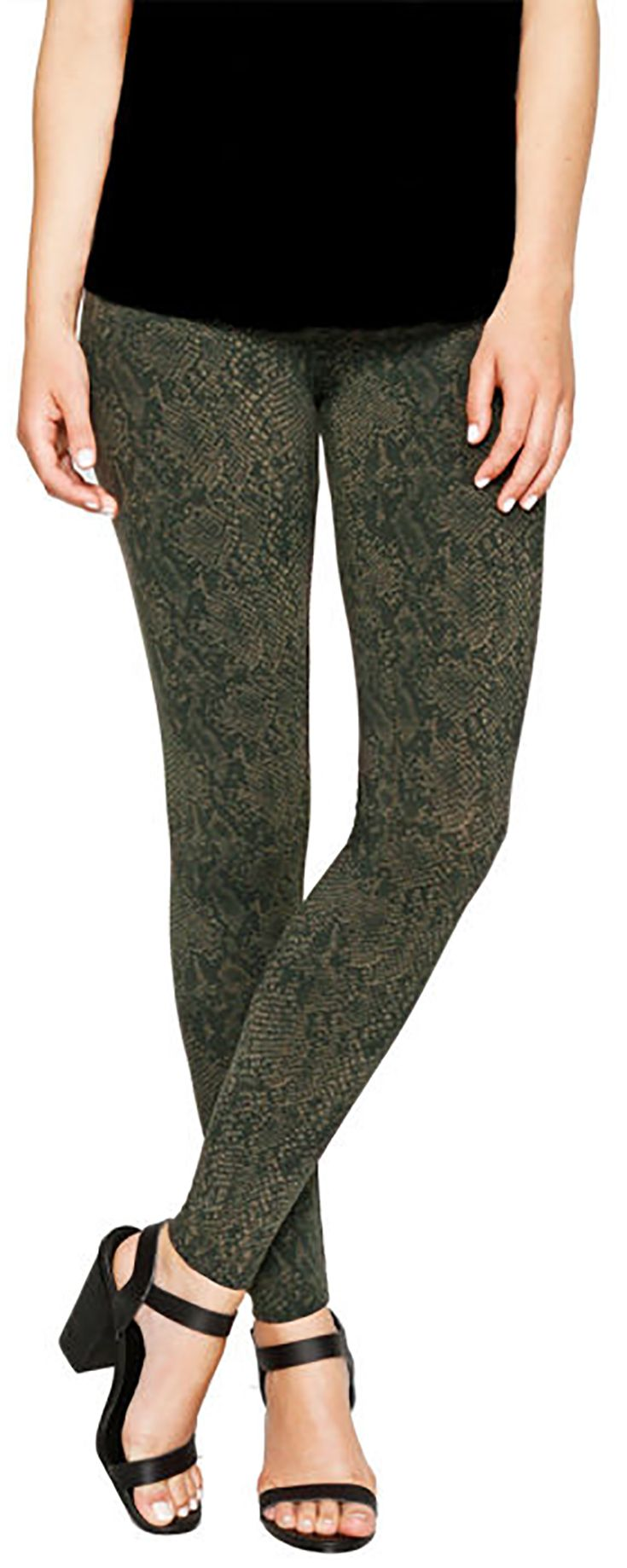 208f6ea40a5684 Matty M Ladies' Printed Legging - Olive Green | Fall/Winter Girly ...