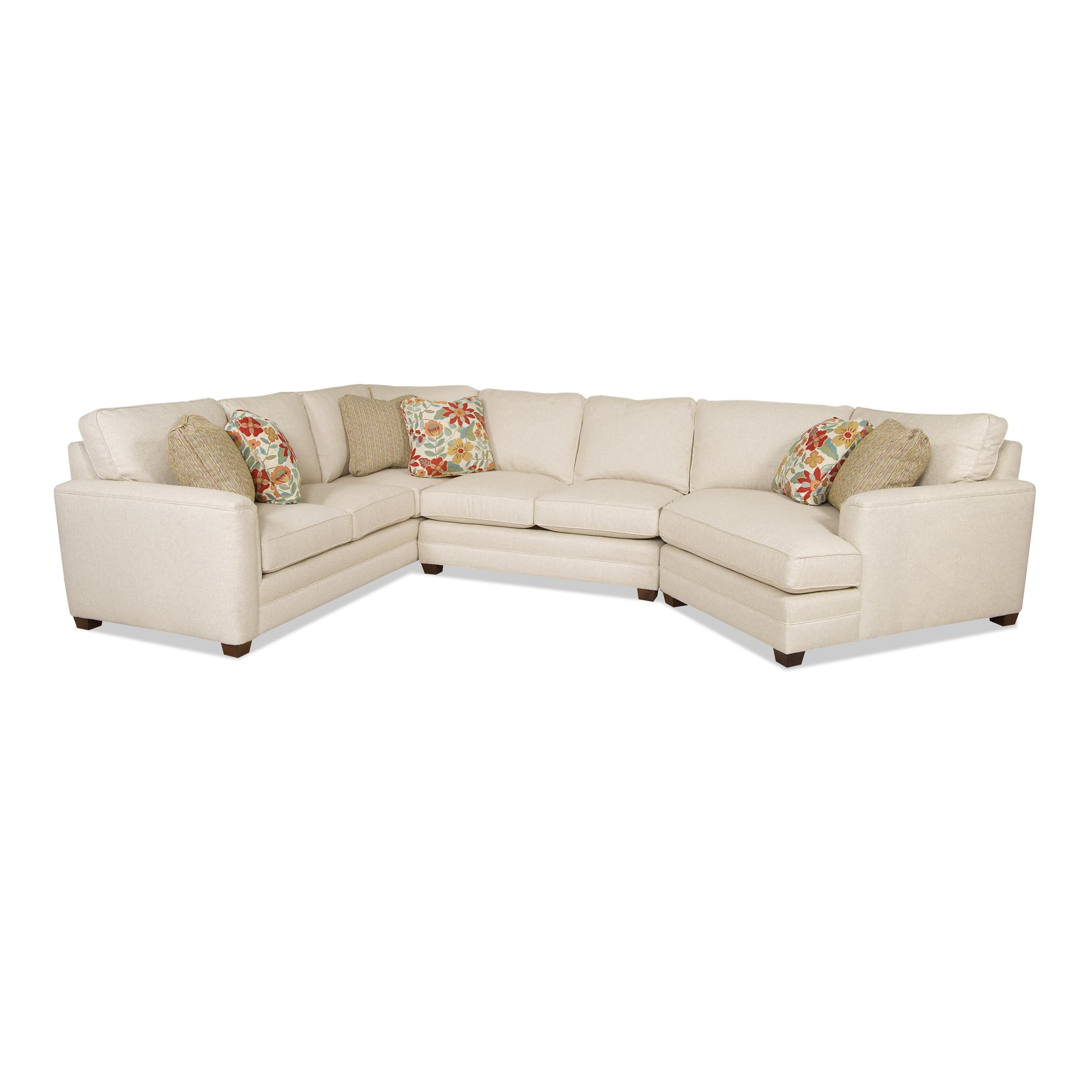 Transitional Sectional Sofa another right side coddler piece