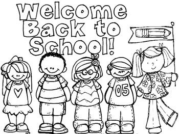 Freebie back to school coloring pages bienvenidos al for Welcome back coloring pages
