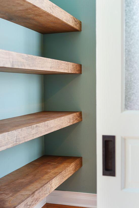 DIY Floating Wood Shelves! (Yellow Brick Home) | Wood Shelf, Bricks And  Shelves