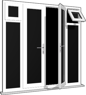 White french doors side sash panels windows and doors for French windows with side panels