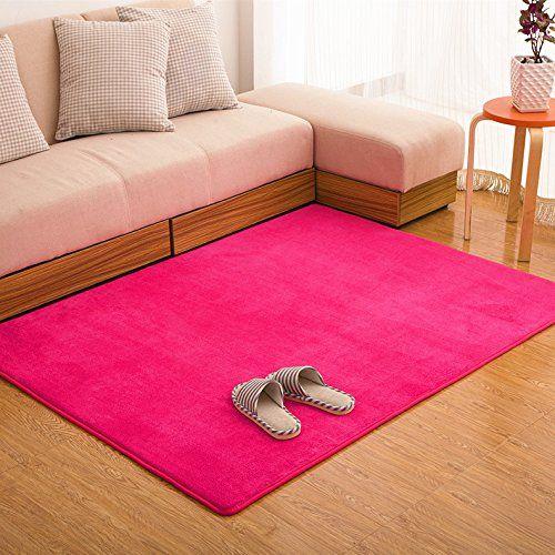 Ustide Puple Livingroom Carpet C Fleece Soft Rug Memory Foam Rugs Set Modern Solid Bedroom New Non Slip Sofa