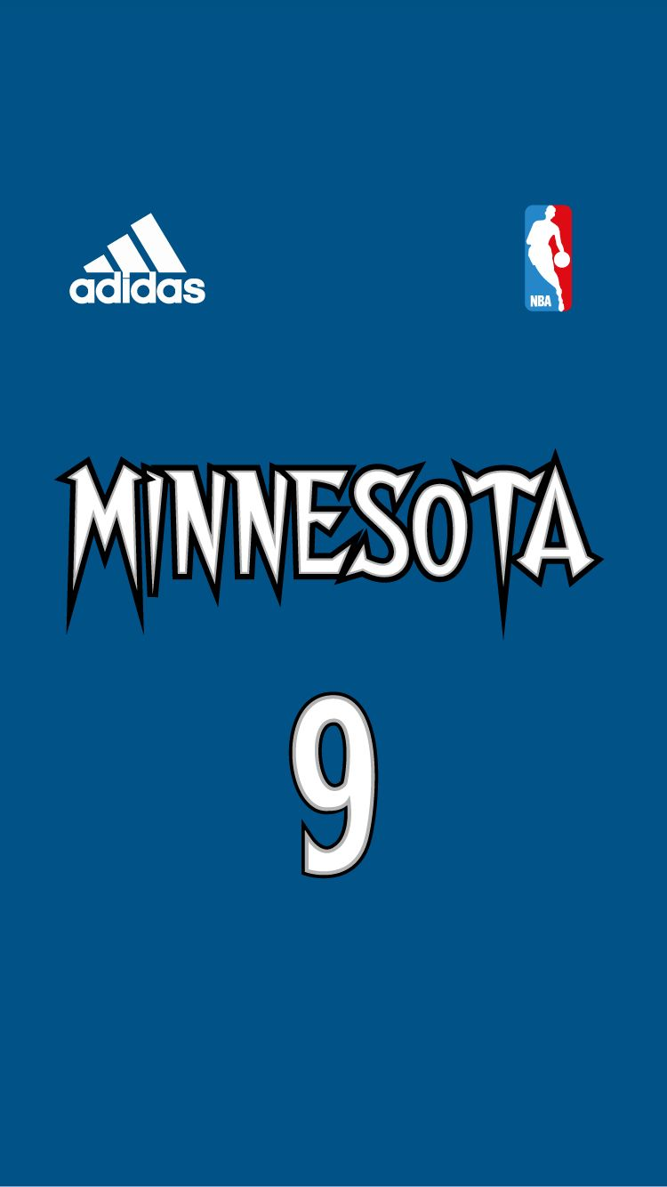 Pin By Trevor Gibbons On Free Iphone 6 Nba Jersey Wallpaper Project Minnesota Timberwolves Basketball Minnesota Timberwolves Nba