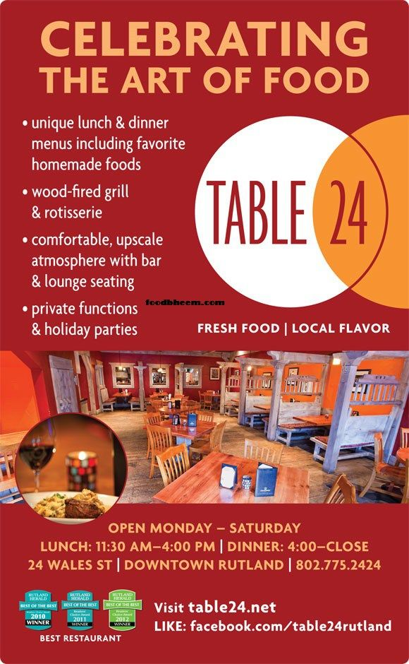 Table Restaurant Rutland Menu Foodbheemcom Table Restaurant - Table 24 menu