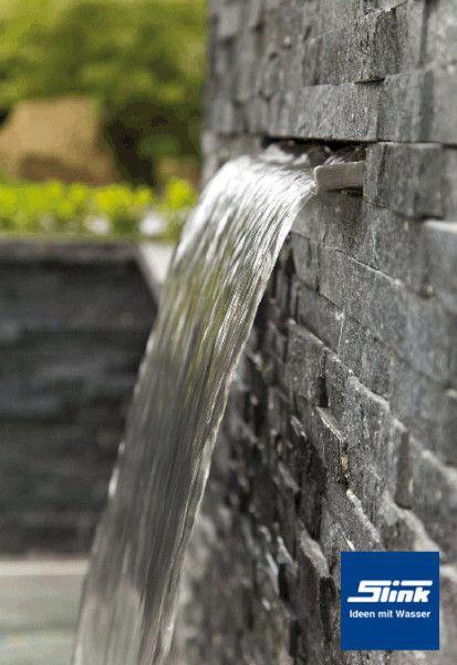 Edelstahl Wasserfall-Bauteil Victoria 60 cm Gartenzubehör - garten steinmauer wasserfall