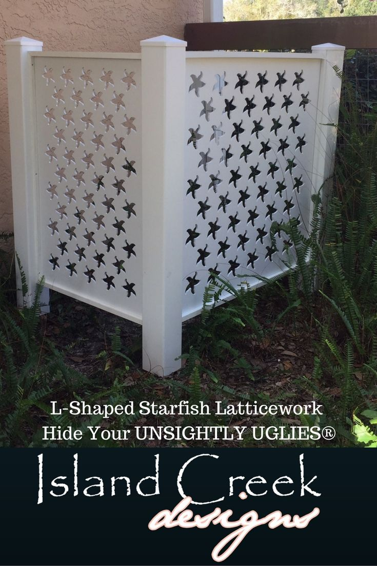 How To Make A Decorative Book Cover ~ Our decorative coastal themed lattice panels can be used to make