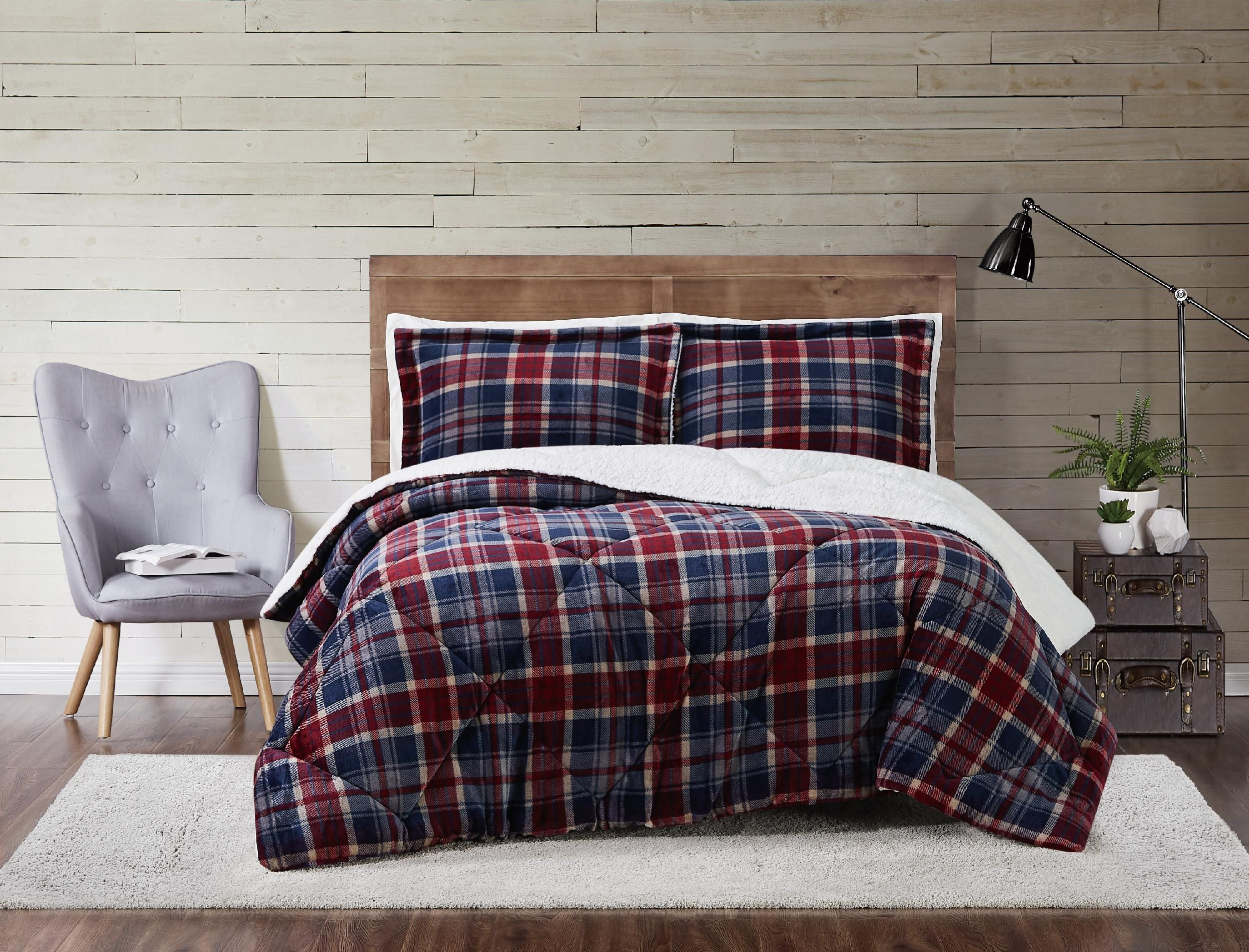 Pem America Plaid 2-Piece Twin XL Comforter Set