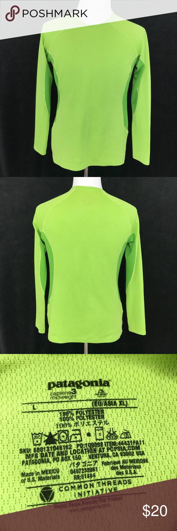 Patagonia Capilene Midweight Long Sleeve Crewneck Clothes Design Patagonia Patagonia Sweater [ 1740 x 580 Pixel ]