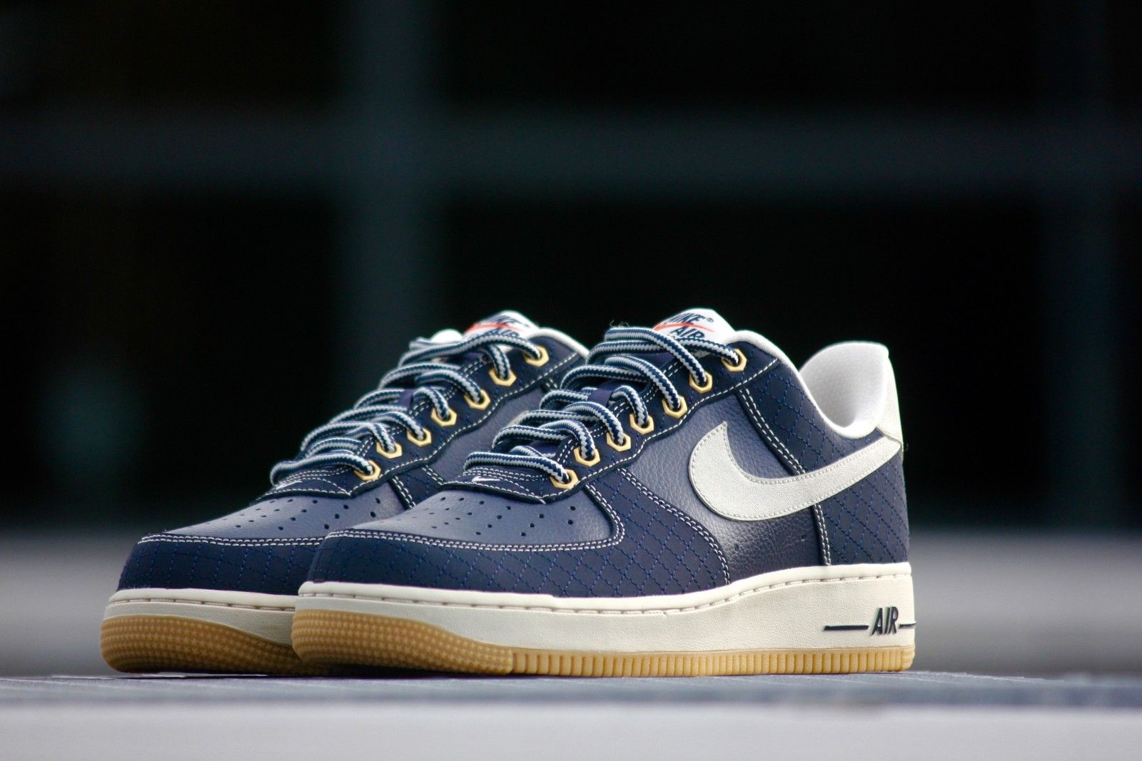 big sale 8123a 4f234 Nike Air Force 1 Obsidian Light Bone Gum - 488298-434