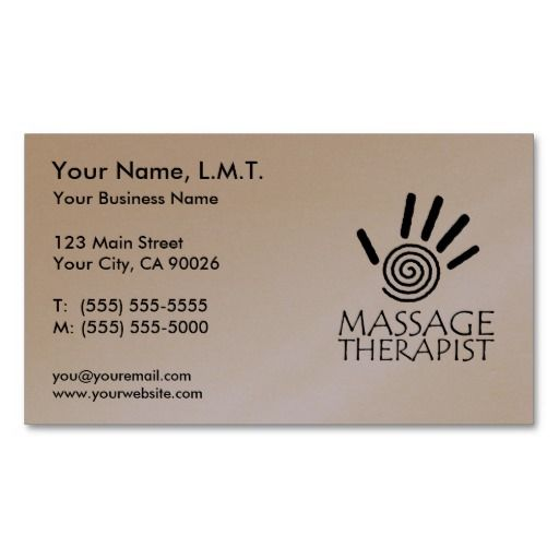 Massage therapy business cards massage therapy pinterest massage therapy business cards flashek Choice Image
