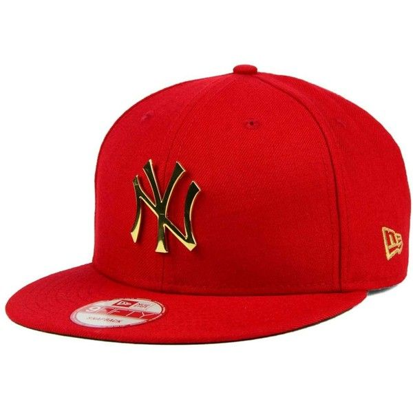 official photos f4da7 08c16 New Era New York Yankees League O Gold 9FIFTY Snapback Cap ( 40) ❤ liked on  Polyvore featuring men s fashion, men s accessories, men s hats, red, ...