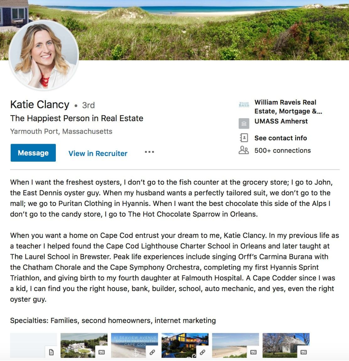 Katie clancy real estate agent linkedin profile in 2020