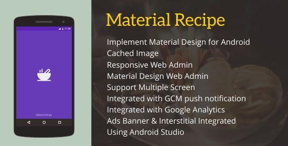 Material Recipe 4 4 | Graphic Art Designs Ideas | Mobile app