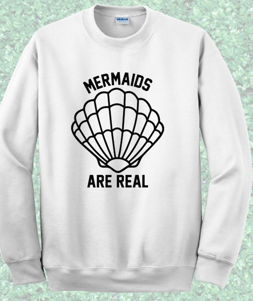 84964475 Disney Little Mermaid Are real Crewneck Sweatshirt #disney #littlemermaid  #princess #quote #sweatshirt #girl #men #mpcteehouse