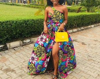African print dress, African wedding dress, Occasion dress, African prom dress, Ankara dress #africanprintdresses