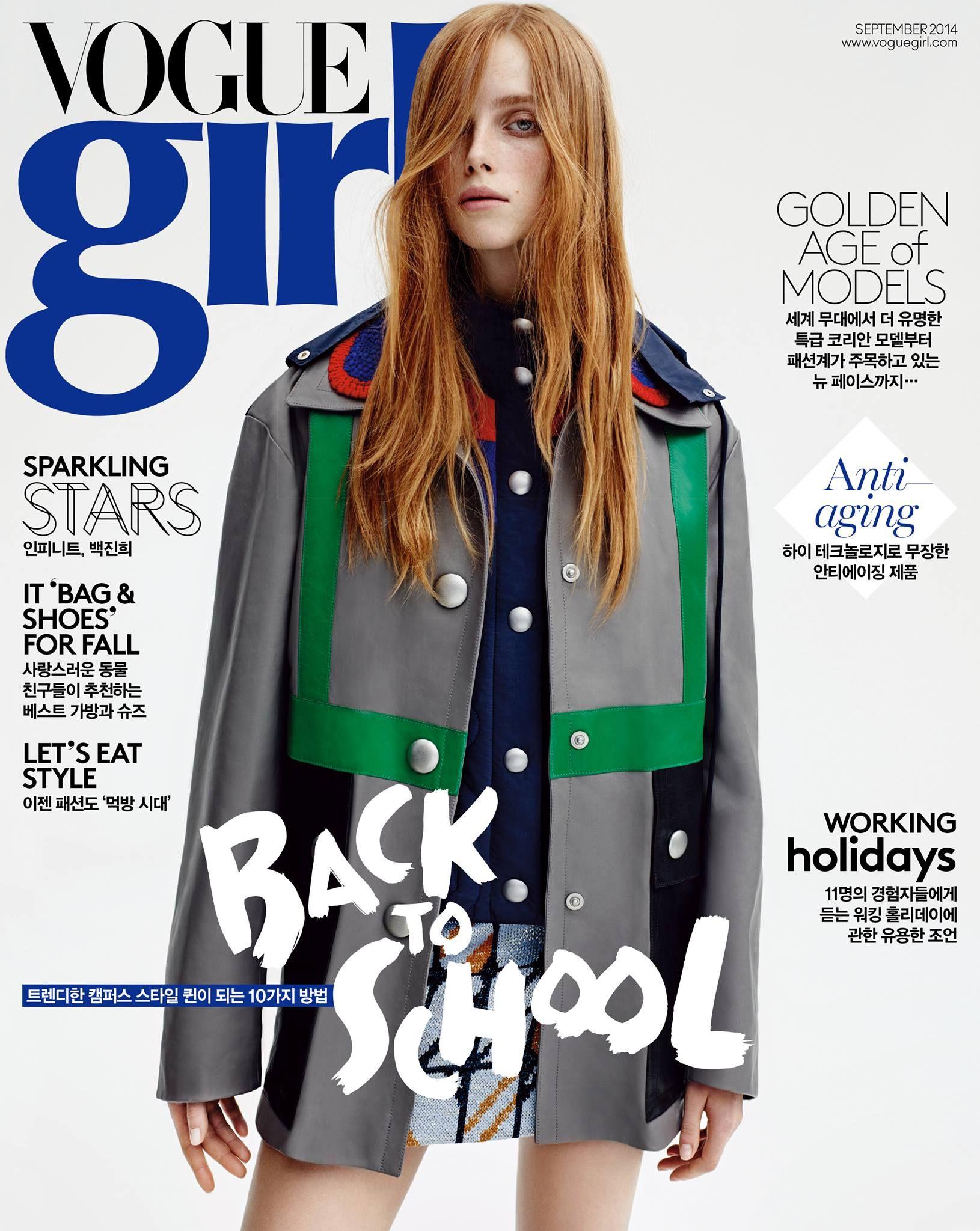 Vogue Girl Korea September 2014   Rianne Van Rompaey