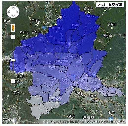 【D3.js】Google MapにSVGをオーバーレイする(SHAPEデータ軽量化)