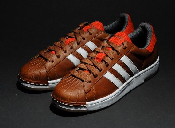 adidas brown leather shoes