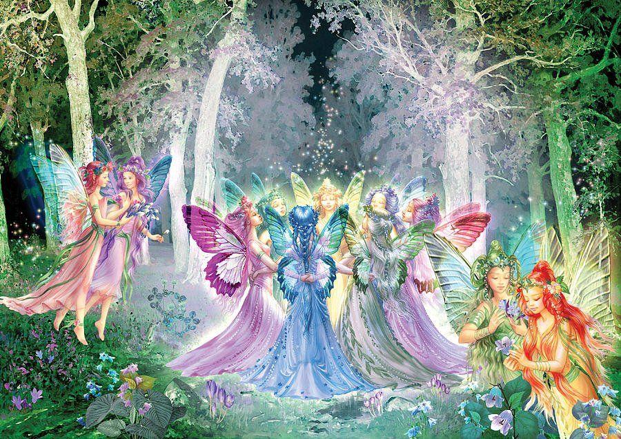 Днем рождения, картинки сказочные феи и эльфы
