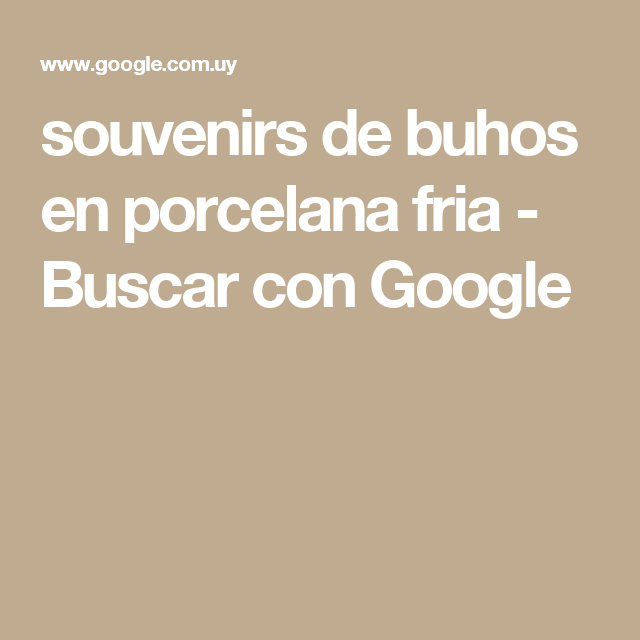 souvenirs de buhos en porcelana fria - Buscar con Google