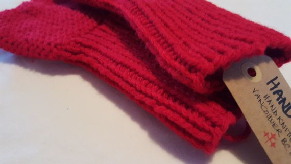 Easy-Care machine-washable/Colorfast Christmas Red by HandySocks