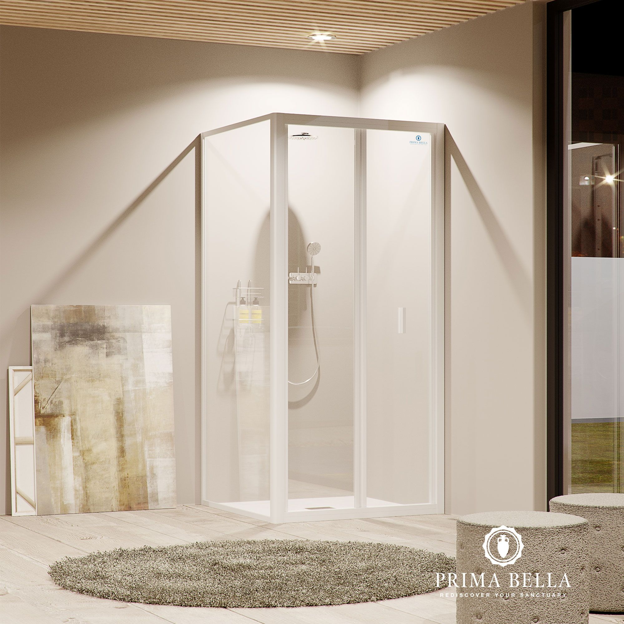 Bi-fold Shower Door | Bifold shower door, Shower doors ...