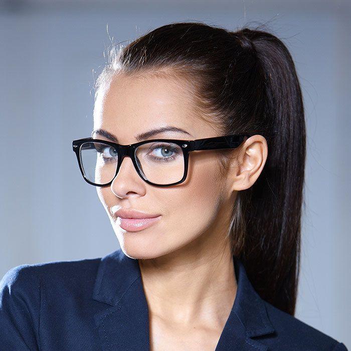 """Photo of Details über Square Clear Brillen """"Kylie"""" Clear Lenses Damenbrillen Schwarz, …"""