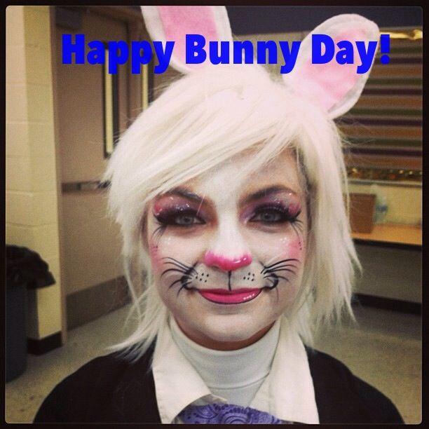 Rabbit makeup for Alice in Wonderland production