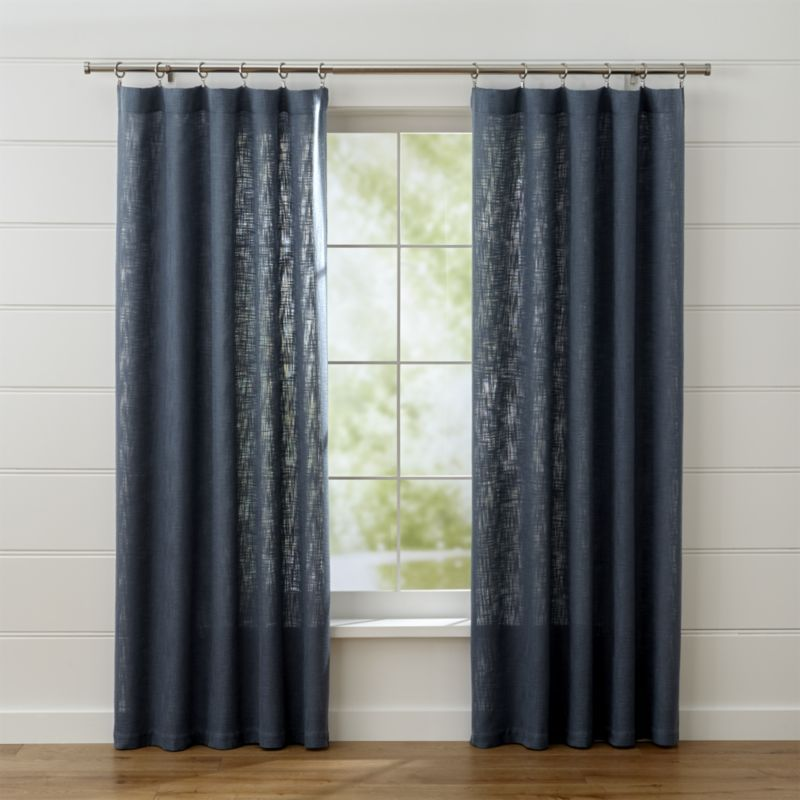 Linstrom Navy Blue Curtain Panels Crate And Barrel Blue