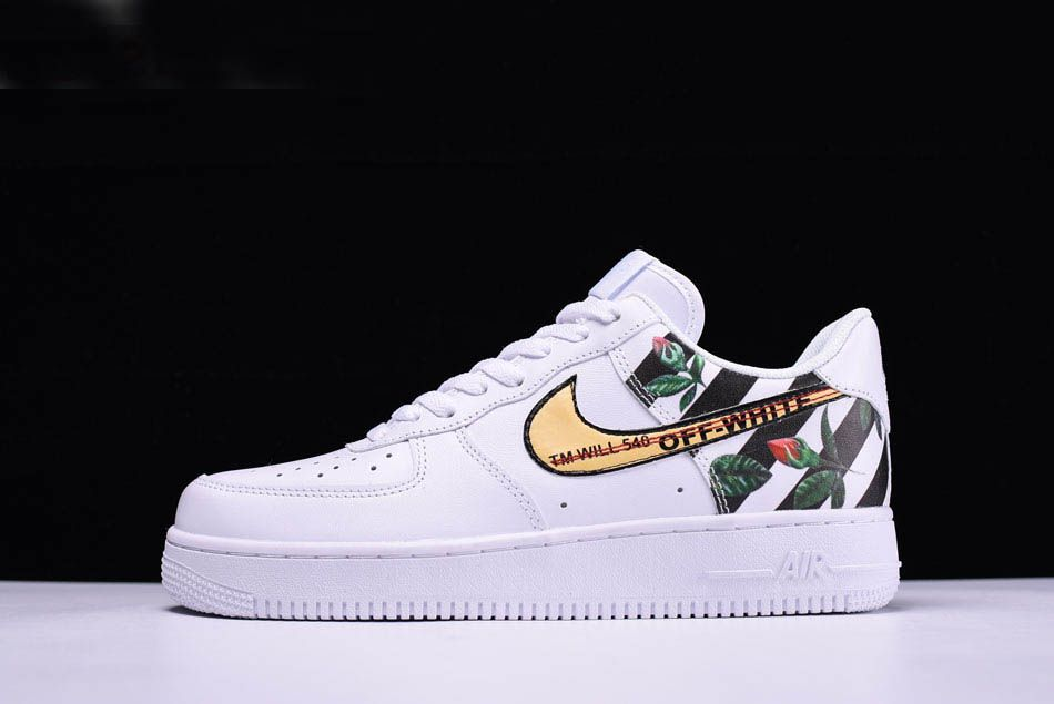Custom Off White X Nike Air Force 1 Low Flower In White Free Shipping In 2020 Nike Air Nike Air Force Ones Nike Shoes Air Force