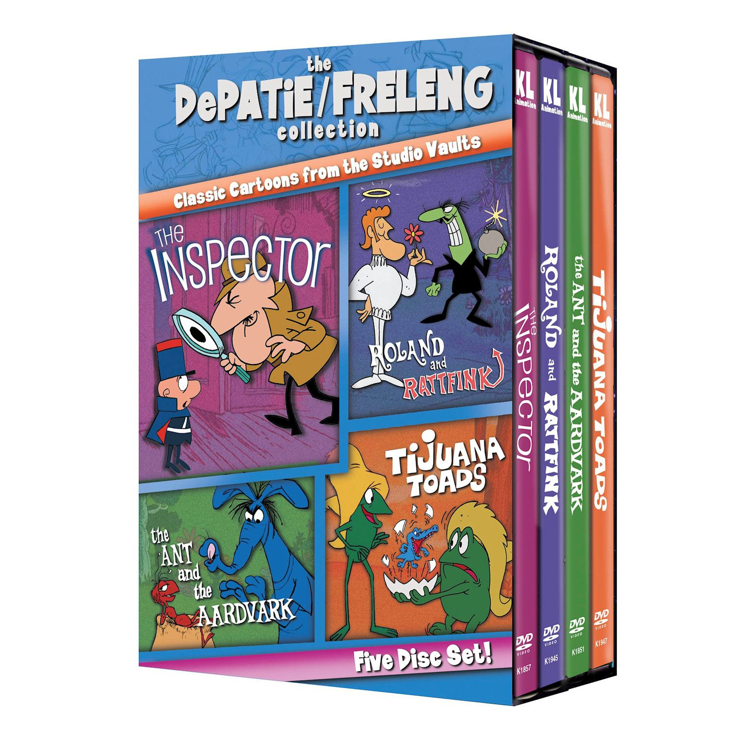 Depatie/freleng Classic Cartoons Collections - Set 1 Dvd & Blu-ray - DVD
