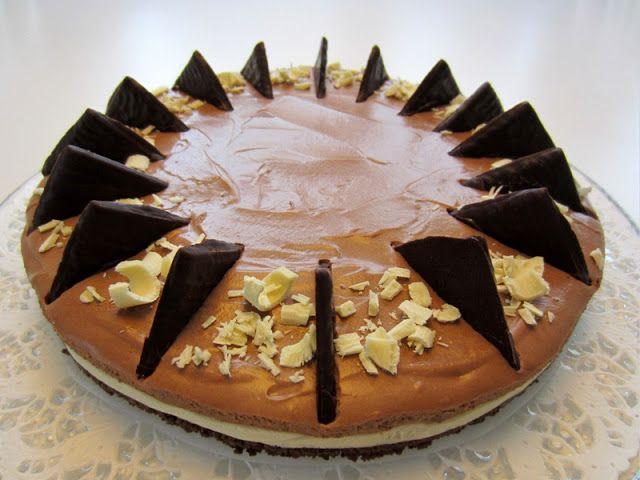 Herkkuja leipomassa: Valkosuklaa-After Eight juustokakku/ White Chocola...