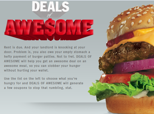 Bungalow 9 Restaurant Coupons Deals Discounts: FACEBOOK COUPONS $$ Hardee's Deals Of Awesome