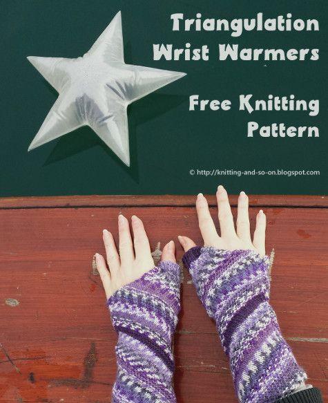 Triangulation Wrist Warmers - free knitting pattern by Knitting and ...